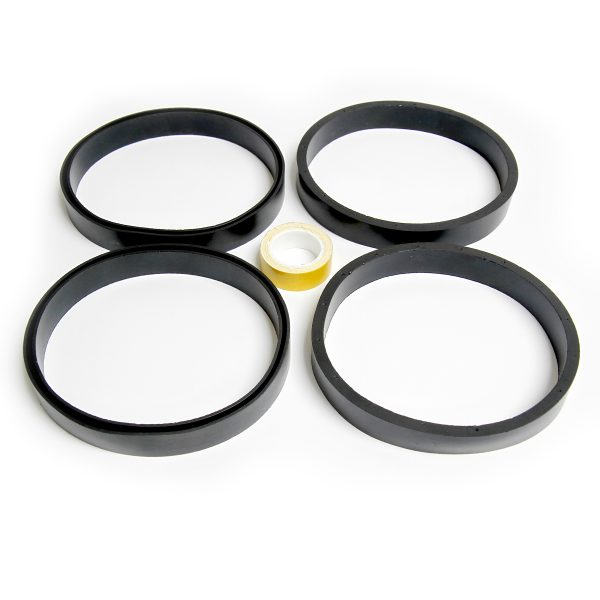 CottermanStore's Office Ladder Ring Set with four rings and a small roll of tape.