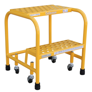2 Step Rolling Metal Ladder